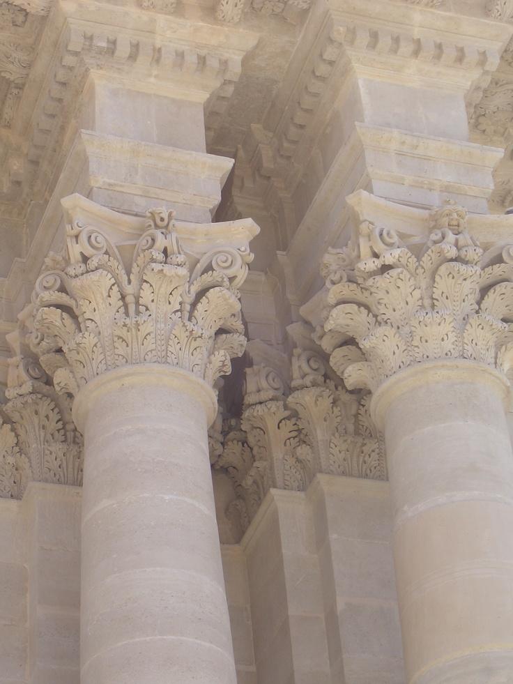 columns in Ortigia Island - siracusa -Sicily