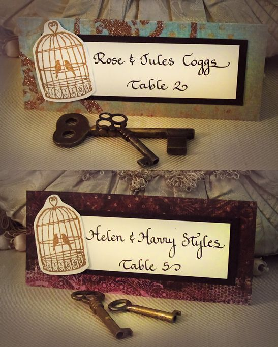 17 steampunk wedding escort and place cards
