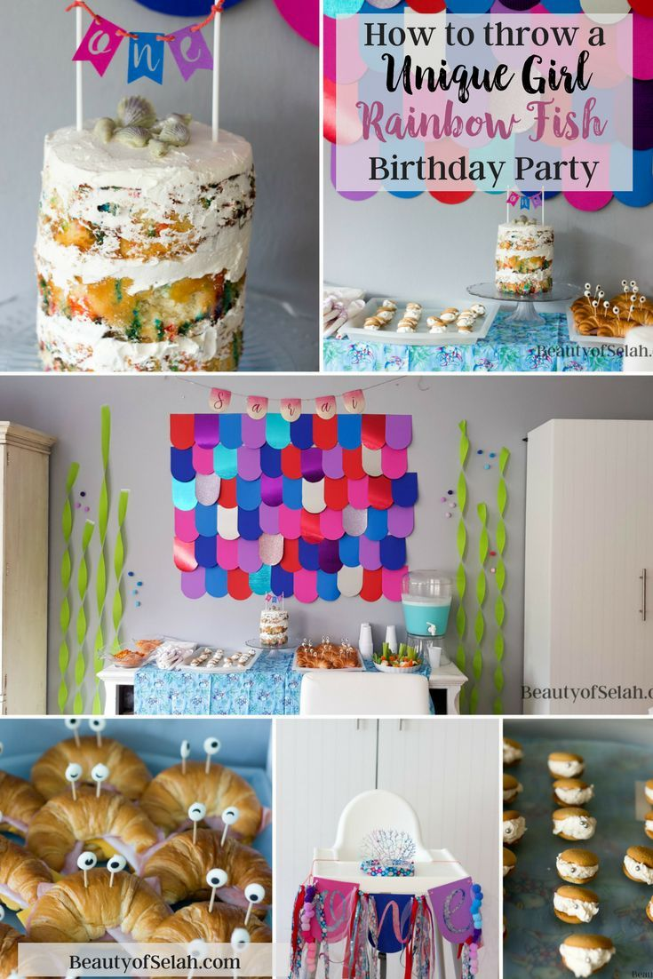 How To Throw A Unique Girl Rainbow Fish Birthday Party
