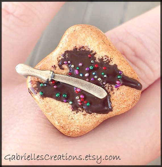Chocolate Spread Ring  Nutella by GabriellesCreations on Etsy