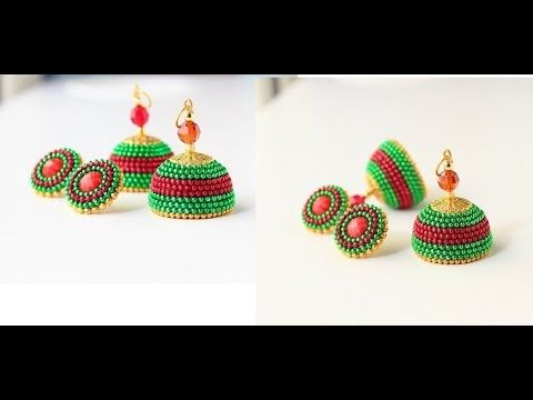 Sangi's creations: How to make Quilled Party wear jhumkas/Party wear jhumkas tutorial