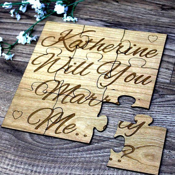 Proposal ideas-Proposal Gifts Men-proposal props-Proposal Sign -Engagement Sign-Engagement plaque-Personalised Wedding Proposal -Jigsaw  £19.99