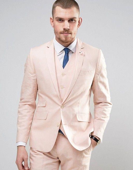Gianni Feraud Wedding 55% Linen Slim Fit Suit
