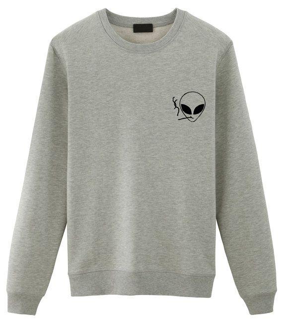 Fumar Alien suéter Tumblr sudaderas sweater Grunge por WaryaTshirts