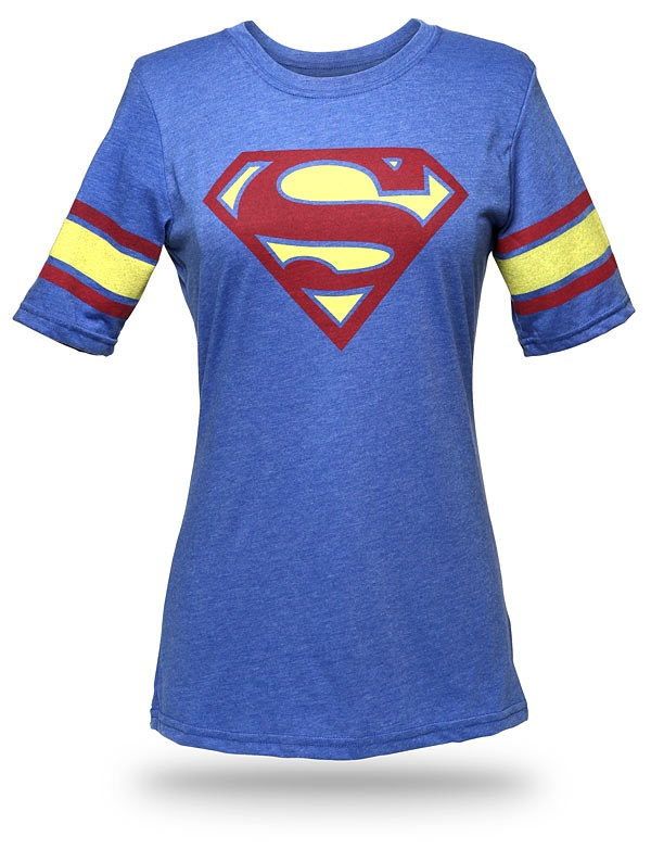 ThinkGeek :: Superman Hockey Stripe Babydoll: Superman C, Stripe Babydoll, Hockey Stripe, Style, Superman Hockey, Stripes, Products, Superhero