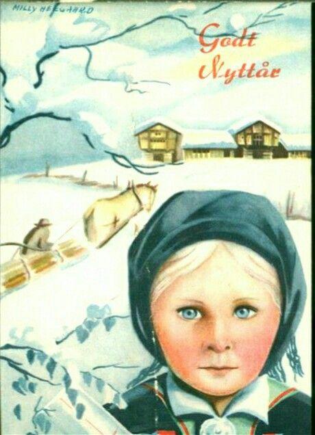 Nyttårskort Julekort Milly Heegaard