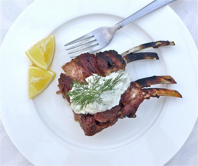 Figalicious: Slow-Cooked Rack of Lamb w/Tzatziki Sauce