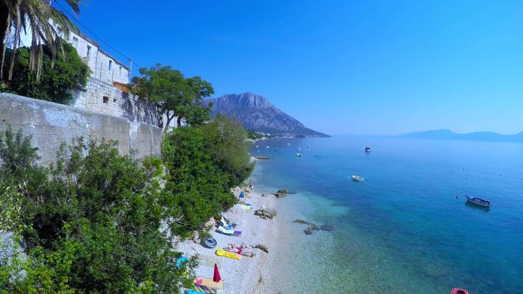 makarska riviera in 4k timelapse - brist beaches plaza bay 03 30/08/2015