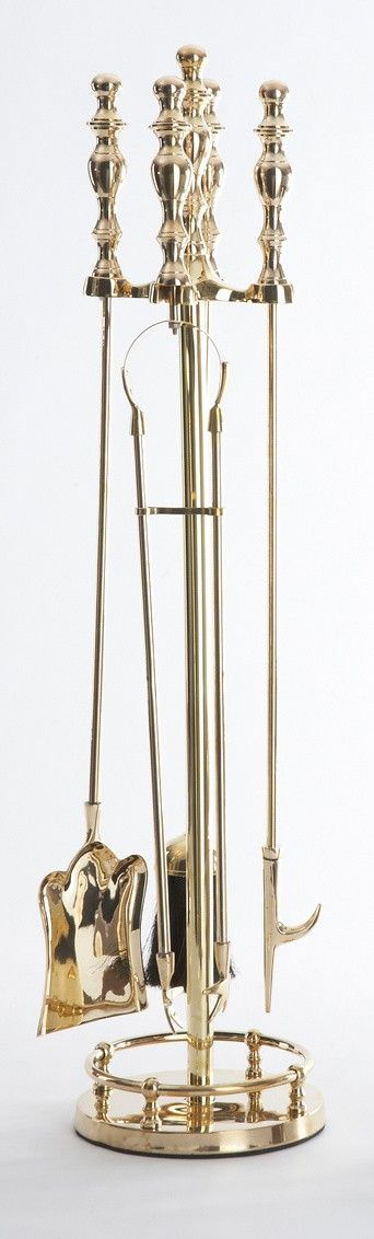 Brass Fireplace Set from The Well Appointed House