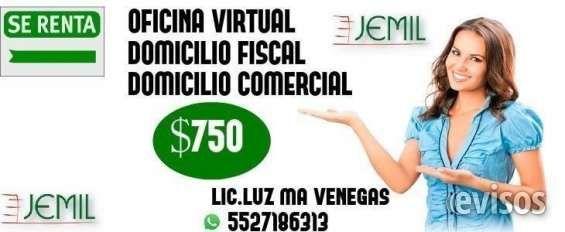 OFICINAS VIRTUALES ,DOMICILIO FISCAL Y COMERCIAL  LIC.Luz Maria Venegas torres Cel o whatsapp 5527 ..  http://cuauhtemoc-city-2.evisos.com.mx/oficinas-virtuales-domicilio-fiscal-y-comercial-id-610584