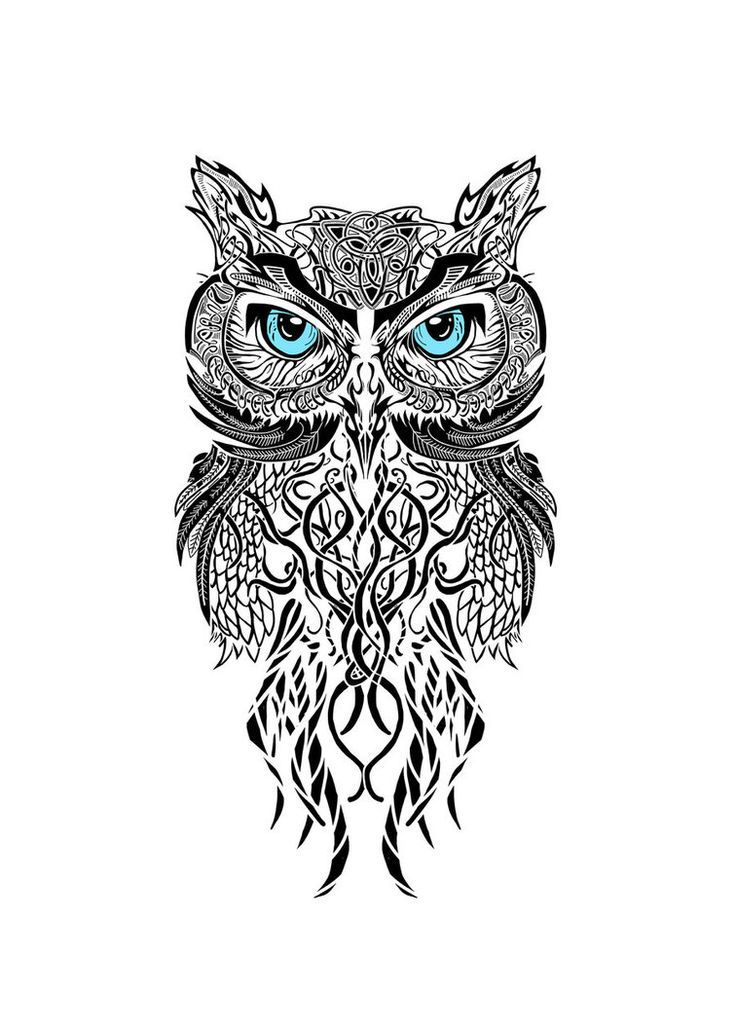 Tattoo Owls Owl Thigh Black And White Sleeve