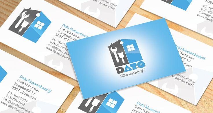 Visitekaartje - Dato Klussen bedrijf levert klus diensten. Voor Dato Klussen bedrijf hebben wij een nieuwe logo ontworpen, Huisstijl, briefpapier en hebben het laten drukken
