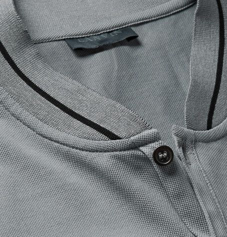Lanvin Slim-Fit Baseball-Collar Cotton-Piqué Polo Shirt