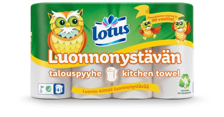 Lotus Luonnonystävän -talouspyyhe on valmistettu kierrätyskuidusta eli keräyspaperista valmistetusta puukuitumassasta. Kierrätyspaperista valmistettu pehmopaperi ei ole yhtä vaaleaa kuin uudesta kuidusta valmistettu, mutta Lotus Luonnonystävän -talouspyyhe on muuten kestävä ja imukykyinen niin kuin muutkin Lotus-talouspyyhkeet. #lotus #luonnonystävän