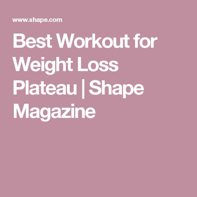Best Workout for Weight Loss Plateau  | Shape Magazine