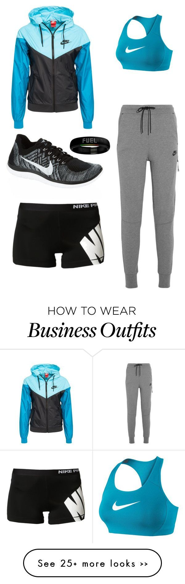 this outfit drew my attention because the color scheme is attractive but it can also work for indoor or outdoor workouts
