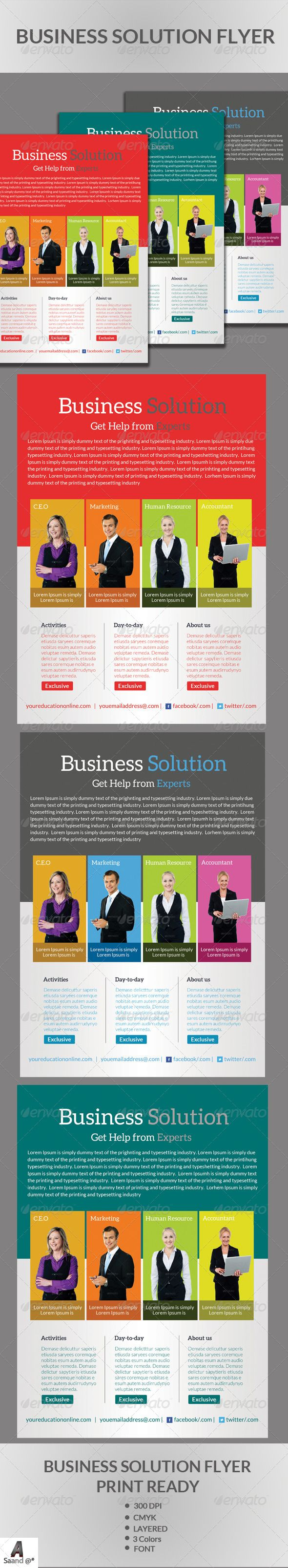 Business Solution Flyer  #GraphicRiver         Business Solution Flyer Template Fully layered PSD 300 Dpi, CMYK Completely editable, print ready Text/Font or Color can be altered as needed Photos are not included in the file Fonts: Lato Font:  .fontsquirrel /fonts/lato   .fontsquirrel /fonts/aleo     Created: 24November13 GraphicsFilesIncluded: PhotoshopPSD Layered: Yes MinimumAdobeCSVersion: #services #shoes #simple #store