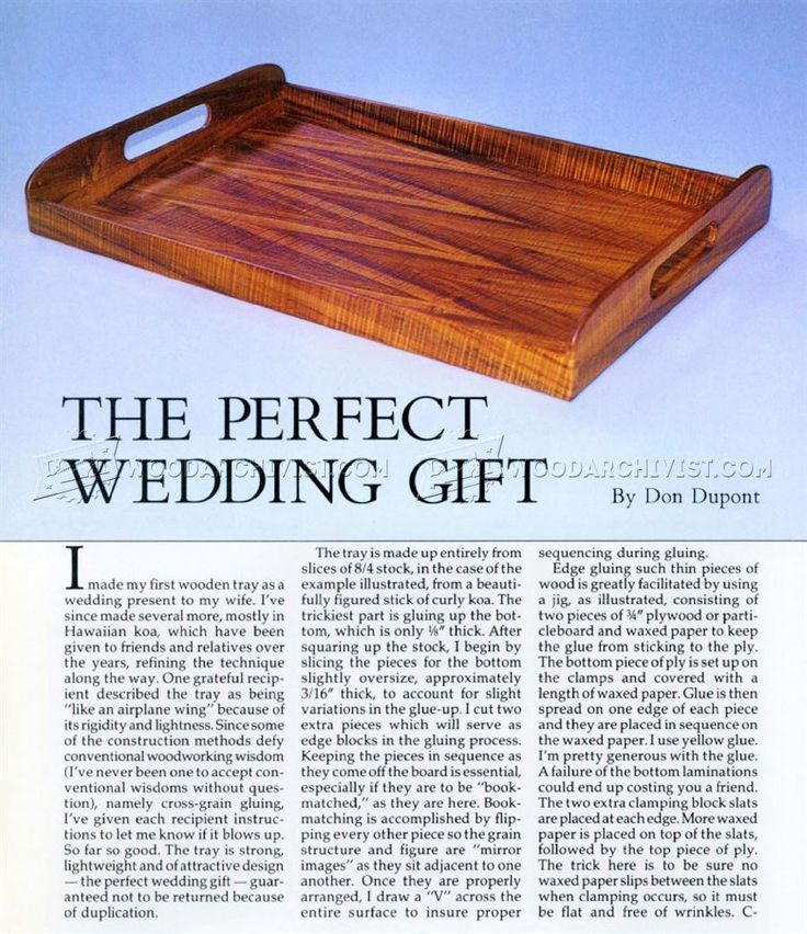 #1547 Wooden Tray Plans - Woodworking Plans