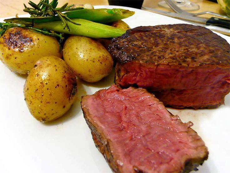 Rinderfilet oder Steaks – bei Niedrigtemperatur gegart
