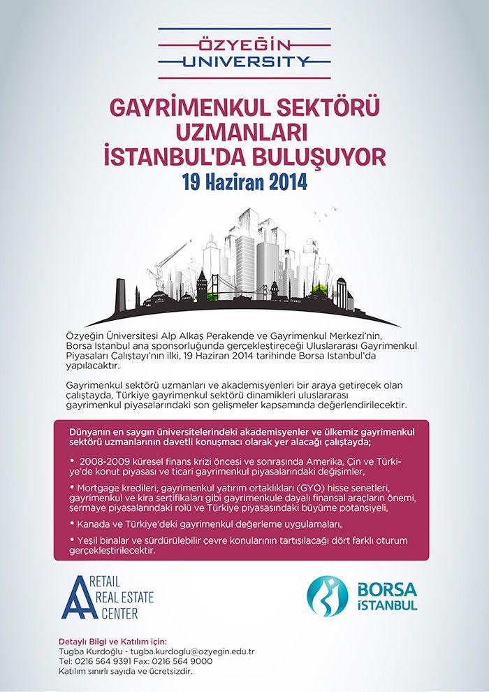 Gayrimenkul sektörü uzmanları 19 Haziran 2014 tarihinde Borsa İstanbul'da buluşuyor