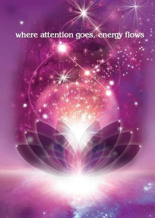 Where attention goes energy flows. I use this concept in my yoga and meditation practice