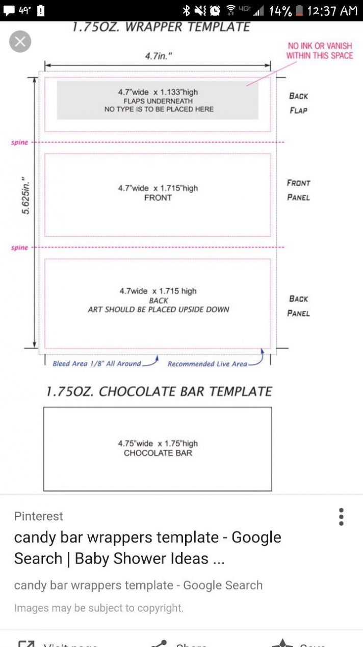 Candy Bar Wrapper Template Chocolate With Peanut Mock Up For With Regard To Free Blank Candy Bar Candy Bar Wrappers Candy Bar Wrapper Template Candy Bar Labels