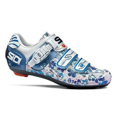 Sidi 2009 Genius 5 Pro Carbon Women's Road Cycling Shoes - Blue Flower (37.5) :