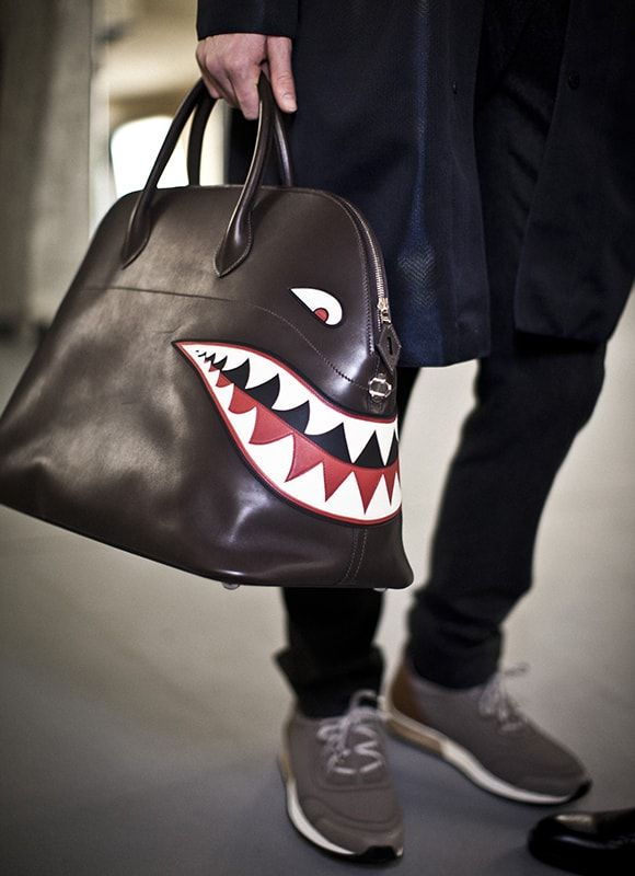 Ferocious travel Bolide!   Looks from the Hermès Men's autumn-winter 2016 show