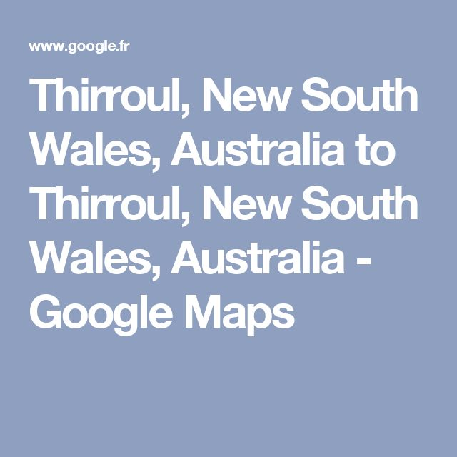Thirroul, New South Wales, Australia to Thirroul, New South Wales, Australia - Google Maps