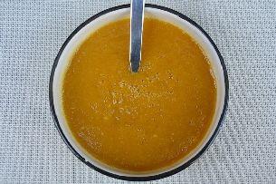 Butternut pompoensoep met spekjes
