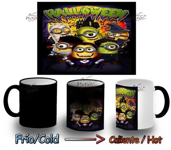 Taza Magica Halloween Minions Minion Mug Heat Reactive Tazza Tasse Magic - Comprar en Bekiro
