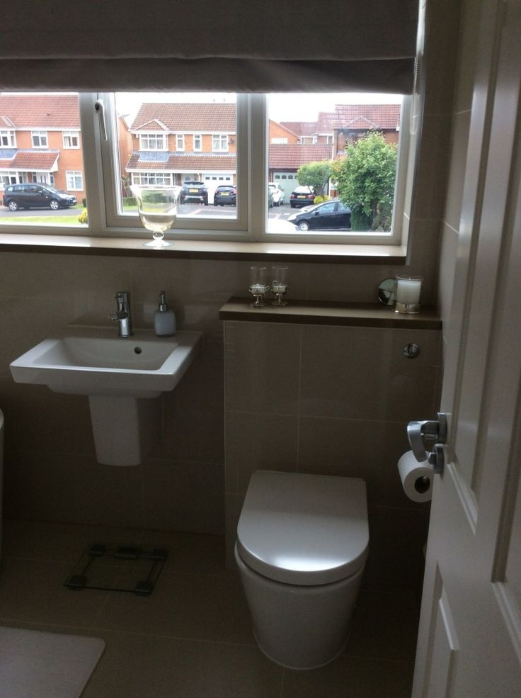 Wendy from Ashington shows how stylish tiling over a concealed cistern looks. #VPShareYourStyle