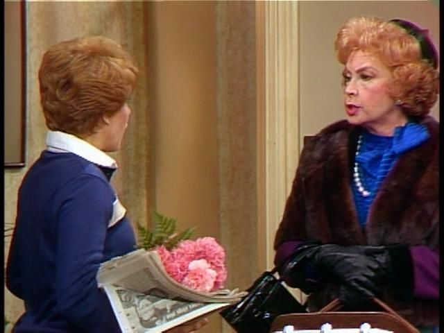 """Audrey Meadows and Nancy Dussault in """"Too Close for Comfort."""" Audrey played well off of Ted Knight in this show."""