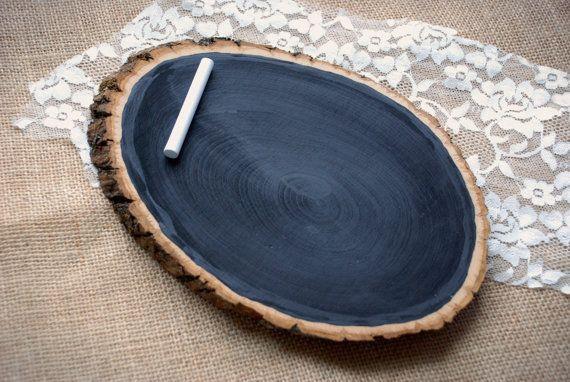 Tree Slice Chalkboard