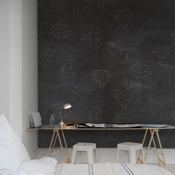 Hey, look at this wallpaper from Rebel Walls, Chalkboard! #rebelwalls #wallpaper #wallmurals