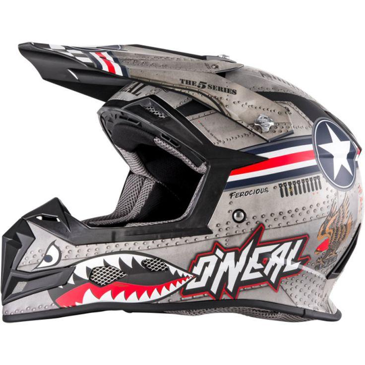 Oneal 2018 5 Series Wingman Metal/White Helmet