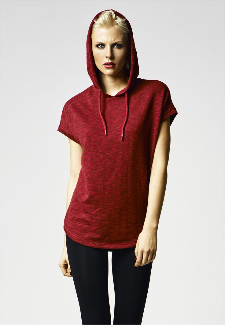 Urban Classics Ladies Melange Sleeveless Terry Hoody