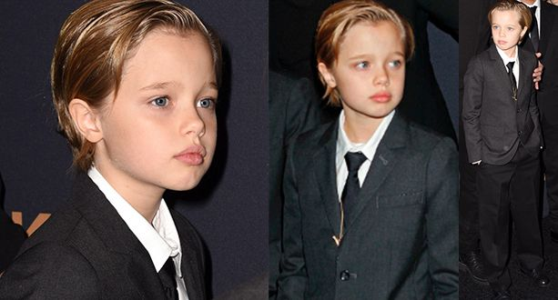 Shiloh Pitt is Really Cute in Her Suit and Tie at Unbroken Premiere | Piclers
