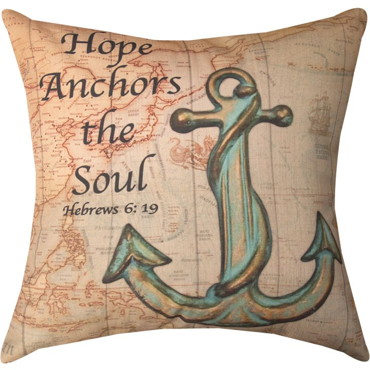 Weavers Manual Woodworkers Hope Anchors the Soul Decorative Throw Pillow