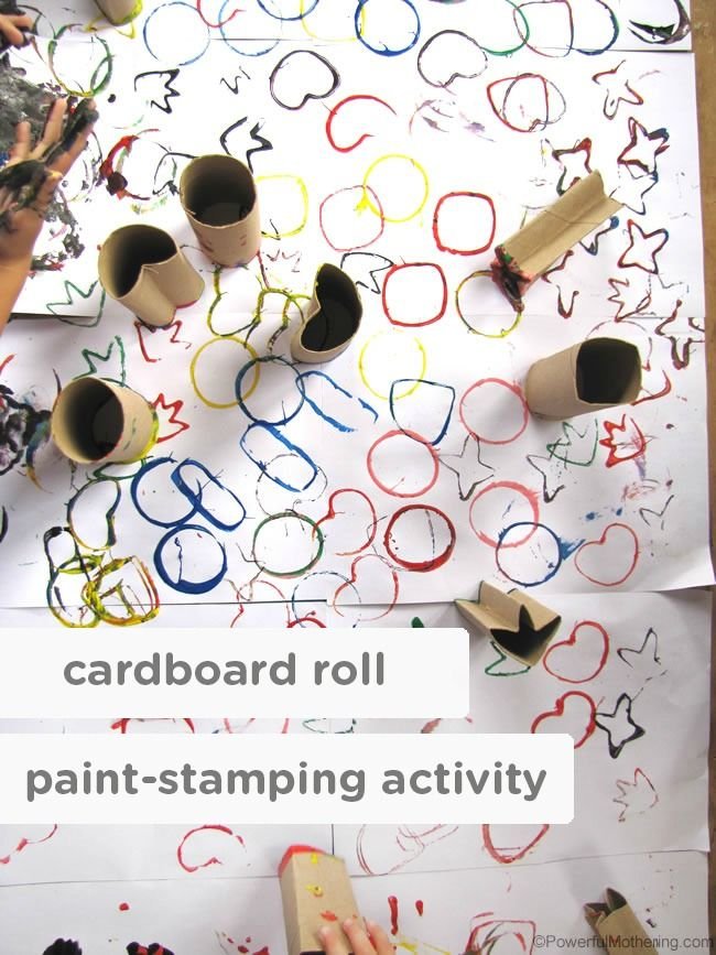Children find joy in the simplest things. Make playtime a fun, imaginative, and memorable time with this cardboard roll paint-stamping activity—a great craft for your toddlers to try on a rainy or snowy afternoon.