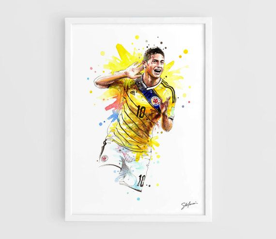 James Rodriguez Columbia national football team FIFA by NazarArt