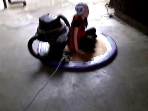 homemade hovercraft plywood plastic drop cloth shopvac blower