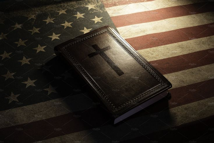 Holy Bible on a vintage american fla | Old american flag, American flag, Christian cross