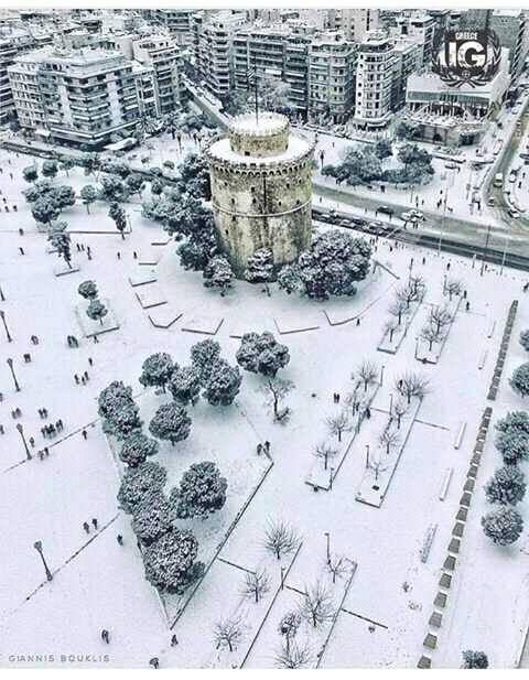 Macedonia Capital, Thessaloniki, Greece in Winter