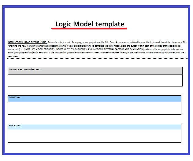 20 best Professional Templates images on Pinterest Word - logic model template