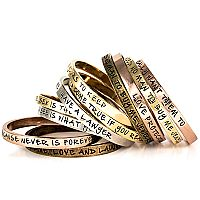 "love these bangles by ettika.com, can customize or already engraved like ""need no man to buy me jewelry""..."