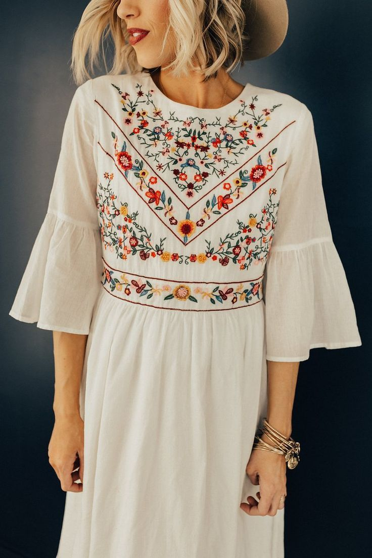 The DeMille Embroidery Dress in 16  Fashion, Embroidered dress