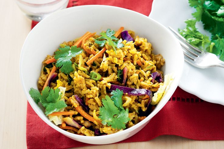 For hearty vegetarian fare in a hurry, whip up this spicy pilaf.