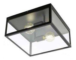 Plafon LAMPA sufitowa CHARTERHOUSE 49392 Eglo szklana OPRAWA klatka czarna przezroczysta