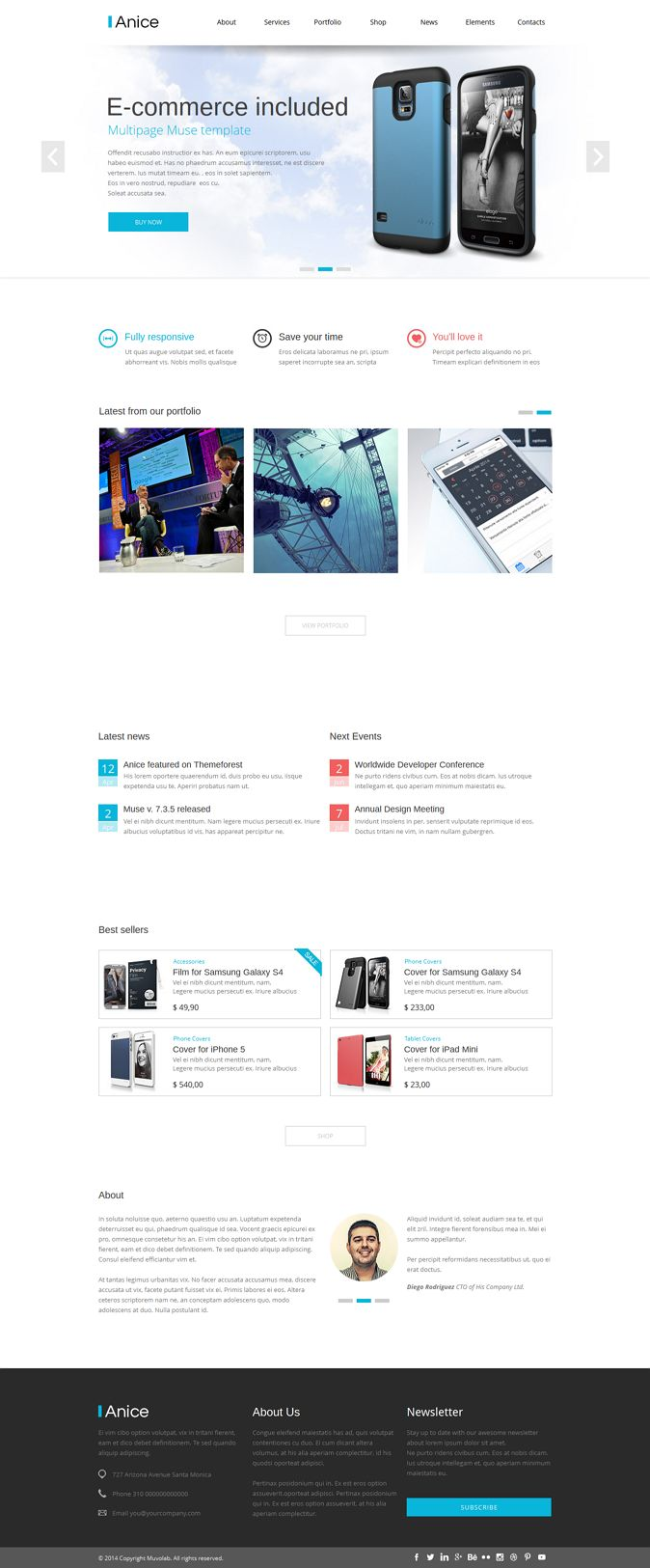 Anice is a #Muse #Template designed for a multipurpose use. #website #eCommerce